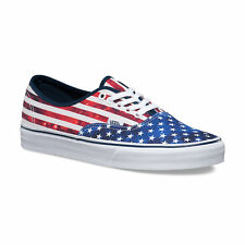 Vans AMERICA - AUTHENTIC Mens Shoes (NEW) All Sizes : USA Flag 'MERICA Americana