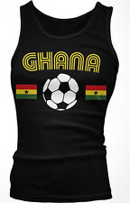 Ghana Flag Soccer Ball - Ghanaian Pride Country Colors Boy Beater Tank Top