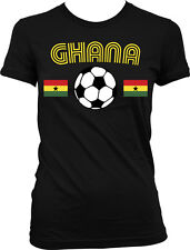 Ghana Flag Soccer Ball - Ghanaian Pride Country Colors Juniors T-shirt