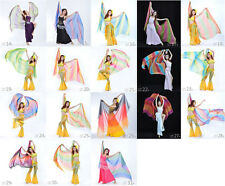 New Belly Dance Costume Gradient Color Silk Shawl Veil 250*120cm 18 colours