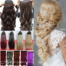 Deluxe Premium Clip In Hair Extensions 5 Clips On Long New Brown Blonde Hair FH3