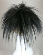 Black Fun Spiky Ponytail Topper Hairpiece w/drawstring Cheerleaders Hairdo