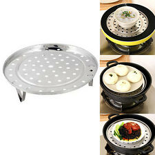 Stainless Steel Steamer Rack Insert Stock Pot Steaming Tray Stand Cookware Hot