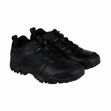 Timberland Mt. Abram Mens Black Leather Hiking Lace Up Boots Shoes