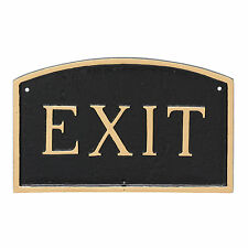 Montague Metal Products Inc. Small Arch Exit Statement Garden Plaque