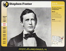 STEPHEN FOSTER Song Composer Musician Photo 1996 GROLIER STORY OF AMERICA CARD