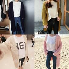 Women Vouge Oversized Long Sleeve Knitted Sweater Knitwaer Cardigan Coat Outwear