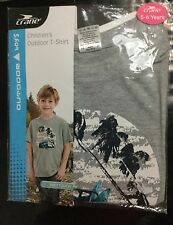 Boys Grey Short Sleeve T Shirt with Jeep & Surf Board detail