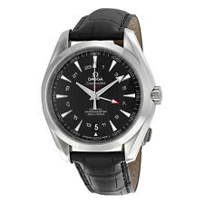 Omega Seamaster Aqua Terra Black Dial GMT Mens Watch 23113432201001