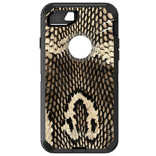 CUSTOM OtterBox Defender for iPhone 6 6S 7 PLUS Brown Tan Snake Skin Texture