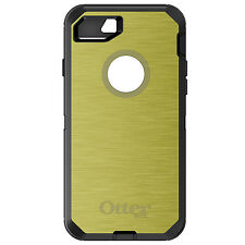 CUSTOM OtterBox Defender for iPhone 6 6S 7 PLUS Yellow Stainless Steel Print