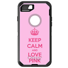 CUSTOM OtterBox Defender for iPhone 6 6S 7 PLUS Keep Calm and Love Pink
