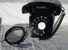Original Vintage G.P.O. 711 Wall Mounted Telephone. Black. From 1963. Converted.
