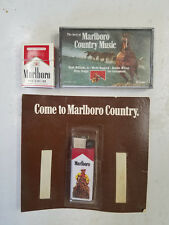 1990's Marlboro Promotional Lighter Match Book Country Music Cassette Premiums