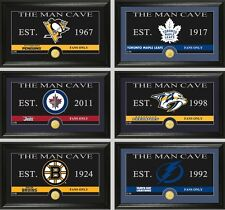 """Choose Your NHL Team """"The Man Cave"""" Bronze Medallion Coin Panoramic Photo Mint"""