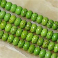 "5x8mm Green Abacus Turquoise Gemstone Loose Beads 15""##QF1226"