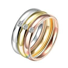 A#S0 R035-A-8 Fashion Titanium Steel Ring Stainless Steel Rings Engagement Weddi