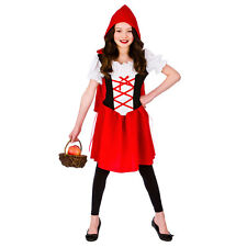Girls Little Red Riding Hood Costume for Fairytales Fancy Dress Kids Childs