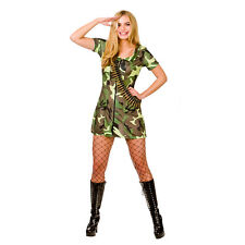 Ladies Sexy Army Girl Costume for Saucy Fancy Dress Womens