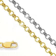 """10k Hollow 2.3mm Gold Rolo Chain Anklet Necklace 10"""" 16"""" 18"""" 20"""""""