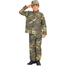 Boys Action Commando Costume for Military Army Soldiers Fancy Dress Kids Childs