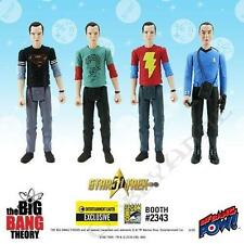The Big Bang Theory Sheldon 3 3/4-Inch Action Figures Series 2 Con Ex Set of 4