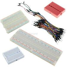 PCB Tie-point Solderless Prototype Breadboard with 65pcs Jumper Leads Wires