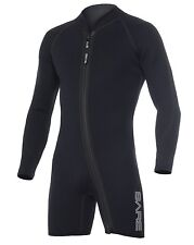 Bare 7mm Sports Step-In Jacket Scuba Diving Wetsuit Men's Black All Sizes NEW