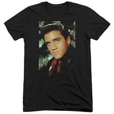 Elvis Presley Red Scarf Mens Tri-Blend Short Sleeve Shirt