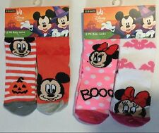 Cute Baby Girl or Boy Socks with Disney Mickey / Minnie Mouse & Halloween detail