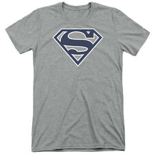 Superman Navy & White Shield Mens Tri-Blend Short Sleeve Shirt