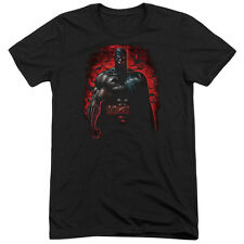 Batman Red Knight Mens Tri-Blend Short Sleeve Shirt