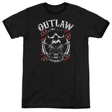 Sons Of Anarchy Outlaw Mens Adult Heather Ringer Shirt