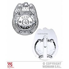 Police Badge Novelty Prop for Cop Detective Fancy Dress Accessory