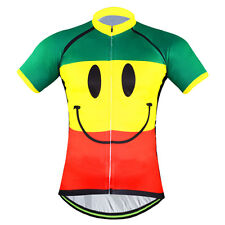 Smiley Novelty Men's Cycling Jersey Cool Bike Shirts MTB Cycle Jersey Tops