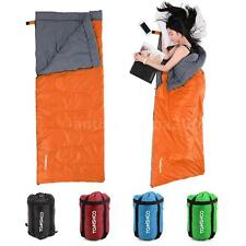 Lightweight Outdoor Camping Envelope Sleeping Bag Collapsible +Compression Sack