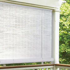 Lewis Hyman White Indoor/Outdoor 1/4 inch Rollup Blind
