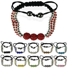 Ladies Stunning Shamballa Bracelet Women's  Crystal-Disco Ball Friendship Bead