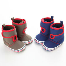 Infant Baby Toddler Winter Cotton Sole Warm Snow Boots Crib Shoes Gift US 3 4 5