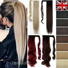 Long Real Thick One Piece Clip In Hair Extensions Wrap Around Ponytail Piece k98