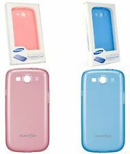 GENUINE SAMSUNG GALAXY S3 I9300 PROTECTIVE TPU BLUE COVER GEL CASE RUBBER COVER