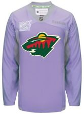Minnesota Wild Reebok NHL Hockey Fights Cancer Practice Men's Jersey