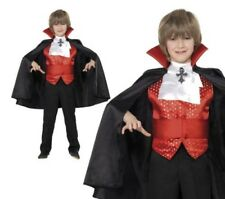 Dracula Boy Costume Vampire Boys Halloween Fancy Dress Outfit Ages 4-12