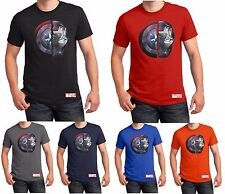 Captain America T Shirt Iron Man Marvel Comics Xmas Christmas Gift Mens S-5XL