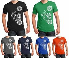 Motorbike Biker T Shirt Skeleton Ride Bike Skull Tee Xmas Christmas Gift S-5XL
