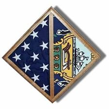 Flag - Wall Mounted box - Fit Burial flag Case Hand Made By Veterans
