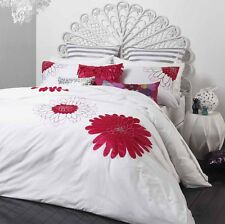 Logan & Mason TIA Fuchsia Emb Applique Quilt Doona Cover Set  DOUBLE QUEEN, KING