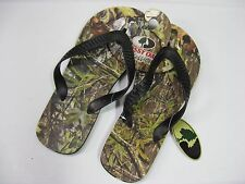 Men's Mossy Oak Camo Green Obsession Flip Flops / Choose Size / SML MED LG XL