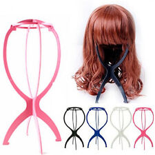 New Folding Plastic Stable Durable Wig Hair Hat Cap Holder Stand Display Tool WB