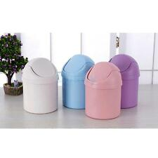 Mini Table Desk Trash Can Waste Rubbish Bin Dustbin Auto Car Garbage Holder